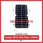 Lampu PJU Solarcell All In One Fatro 12watt