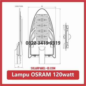 lampu led osram 120watt