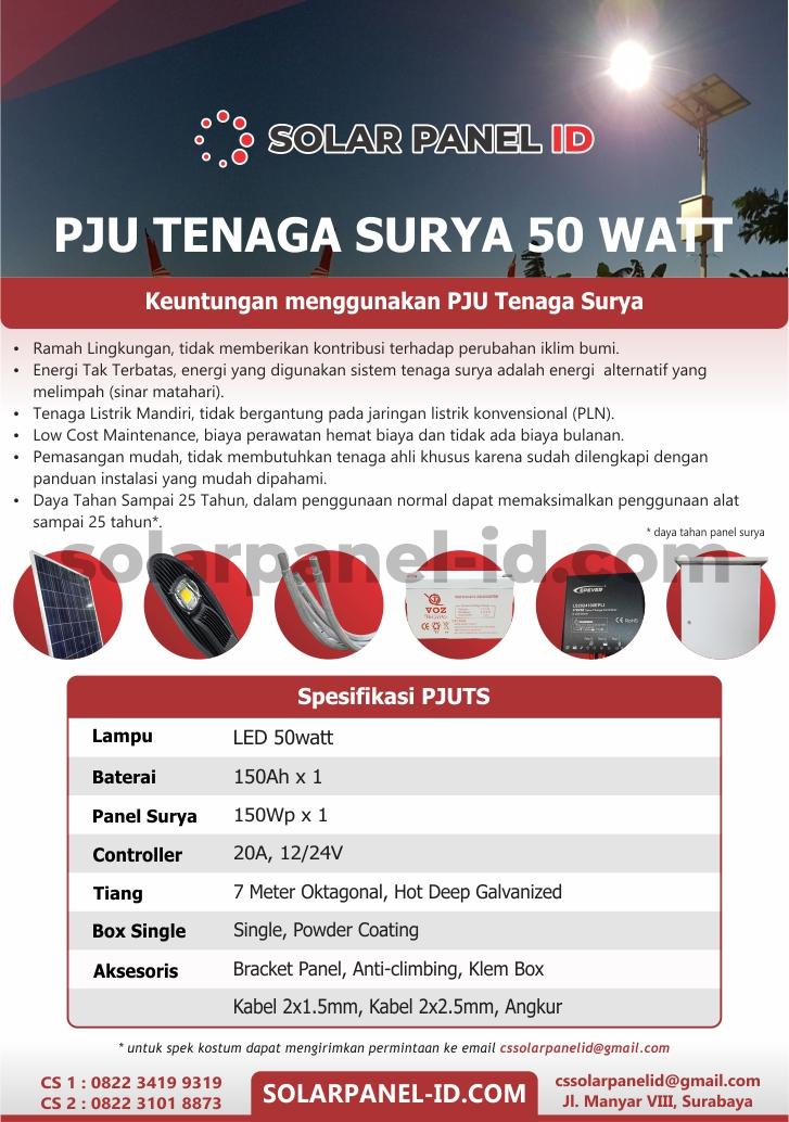Brosur PJU Tenaga Surya 50watt Murah, SOLARPANEL ID