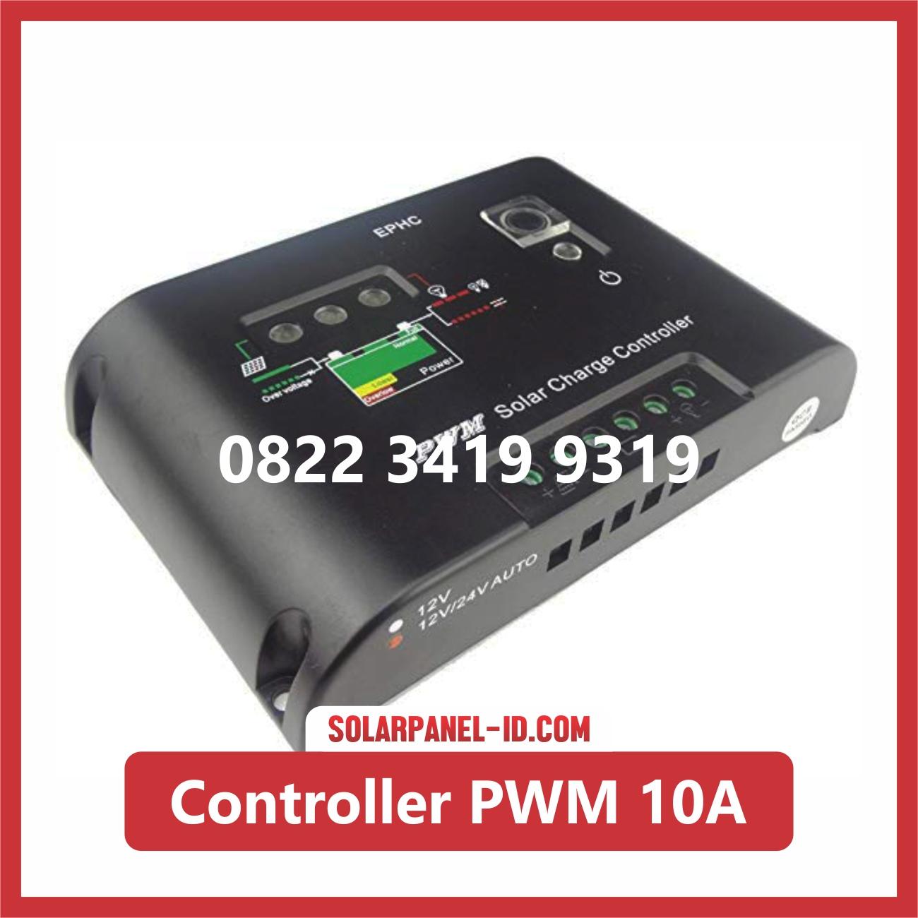 Harga Solar Charge Controller PWM 10A 12v 24v Solar Cell Solarcell Solar Panel Surya