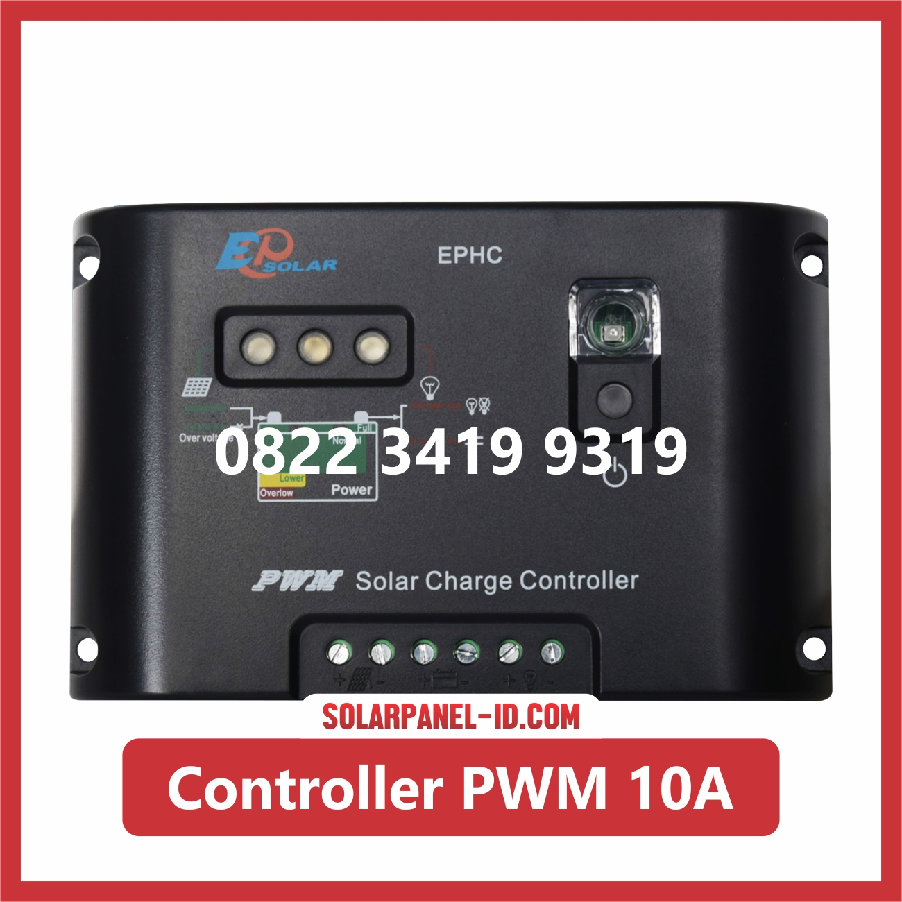 Jual Solar Charge Controller PWM 10A 12v 24v Solar Cell Solarcell Solar Panel Surya