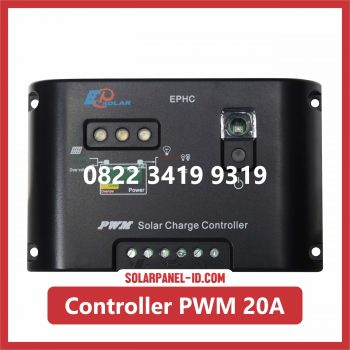 Jual Solar Charge Controller PWM 20A 12v 24v Solar Cell Solarcell Solar Panel Surya