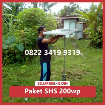 Jual paket solar home system solarcell solar cell 200wp