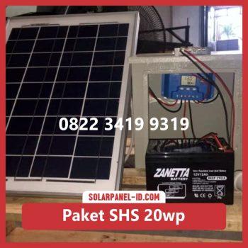 Harga paket solar home system solarcell solar cell 20wp murah