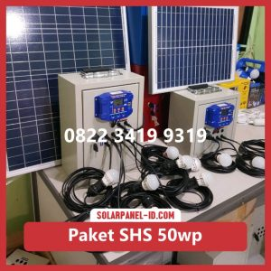 Jual paket solar home system solarcell solar cell 50wp murah