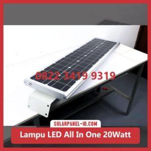 jual PJU all in one solar cell 20watt