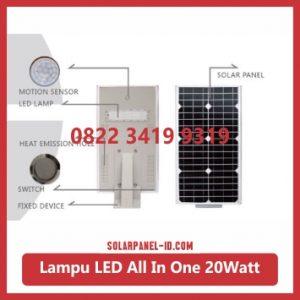 jual PJU all in one solar panel 20watt
