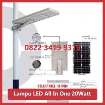 jual PJU all in one solar panel 20watt murah