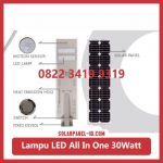 Lampu PJU All In One 30watt