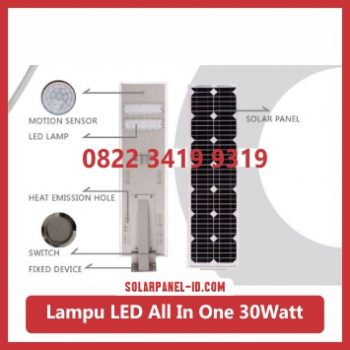 jual PJU all in one solar panel 30watt