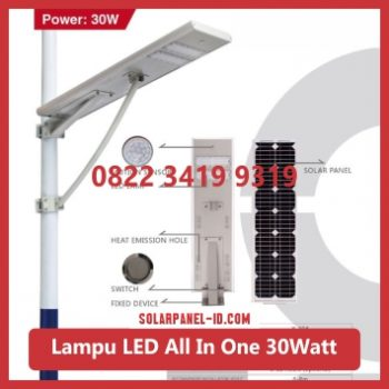 jual PJU all in one solar panel 30watt murah