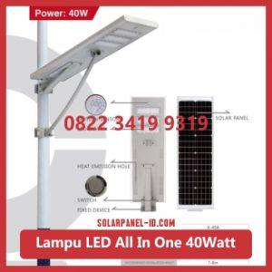 jual PJU all in one solar panel 40watt murah