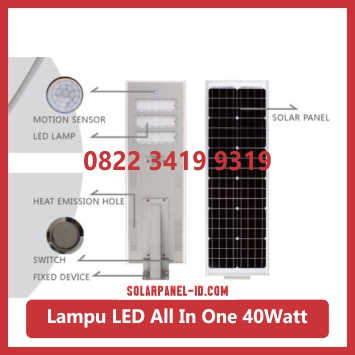 jual PJU all in one solar panel 40watt