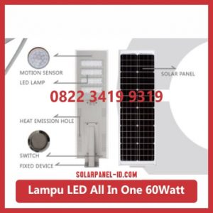jual PJU all in one solar panel 60watt