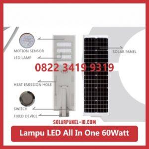 jual PJU all in one solar panel 60watt