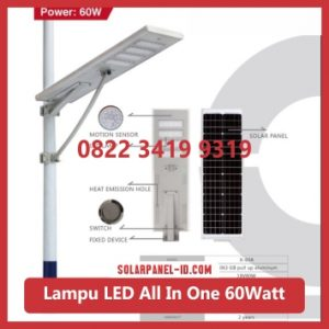 jual PJU all in one solar panel 60watt murah