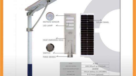 Lampu PJU All In One 60watt
