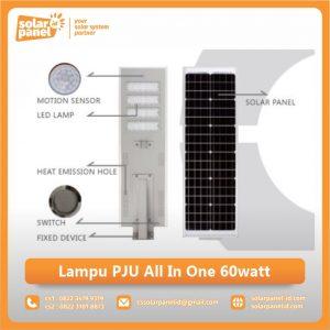 jual lampu pju all in one 60watt murah