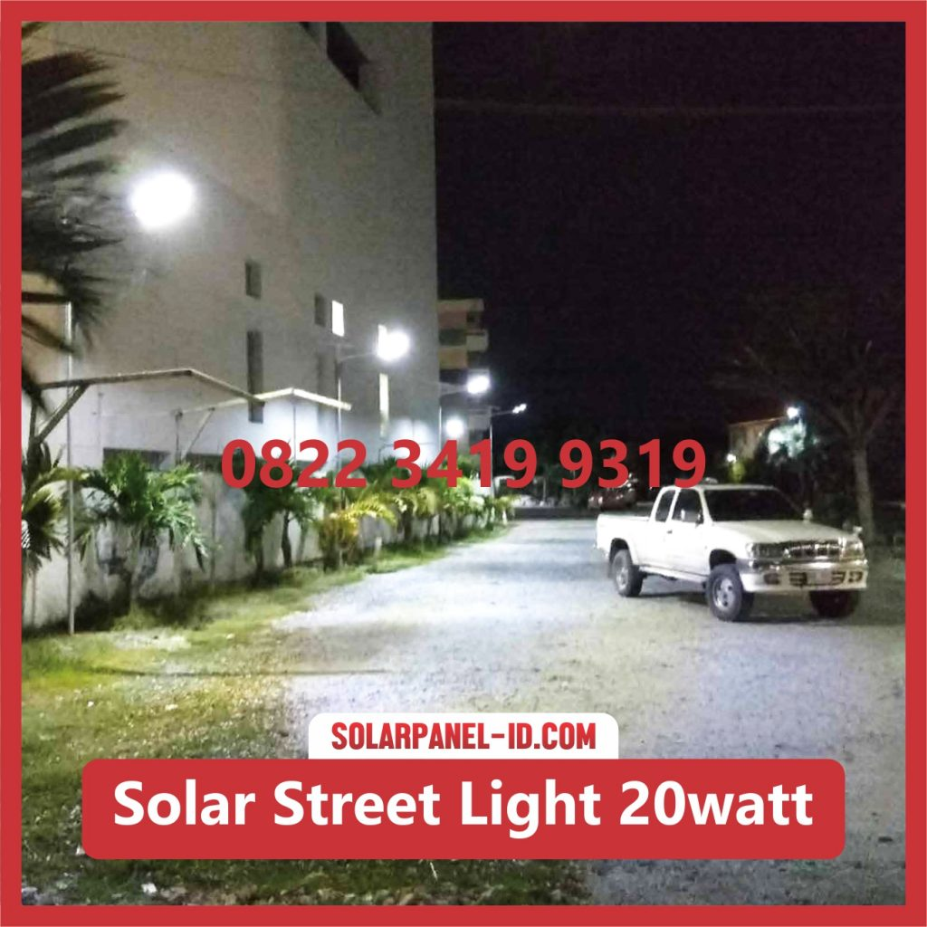 Jual Lampu LED AIO Solar Street Light 20watt Lithium