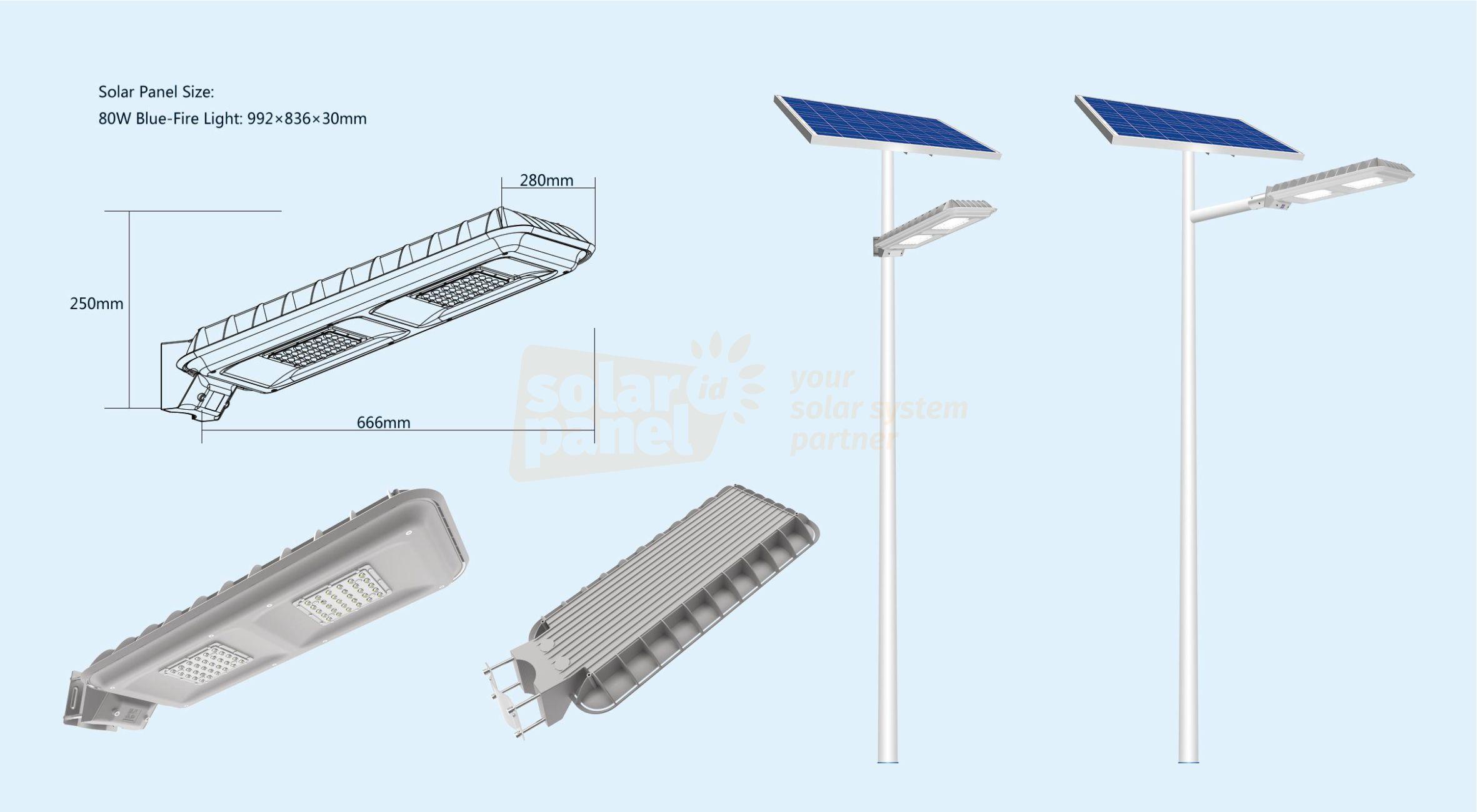 distributor lampu pju 2in1 solarcell bluefire light 80 watt 1.0