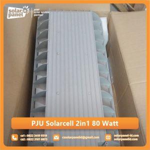distributor lampu pju 2in1 solarcell bluefire light 80 watt surabaya