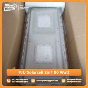 harga lampu pju 2in1 solarcell bluefire light 80 watt murah