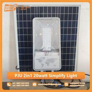 jual lampu pju 2in1 20 watt simplify light