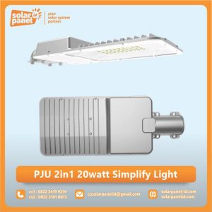 jual lampu pju 2in1 20 watt simplify light murah