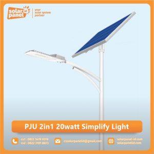 jual lampu pju 2in1 20 watt simplify light surabaya