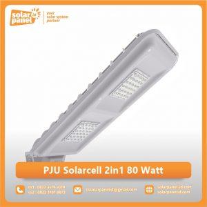 jual lampu pju 2in1 solarcell bluefire light 80 watt bergaransi