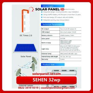 Jual paket SEHEN 32wp Solar Cell murah lengkap