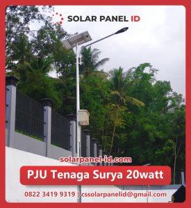 jual pju solar cell 20 watt 20watt