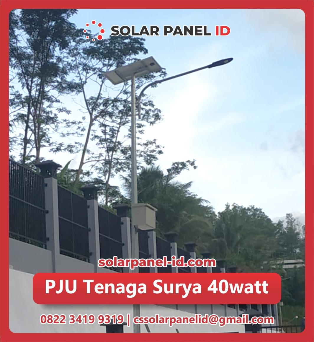 jual pju solar cell 40 watt 40watt