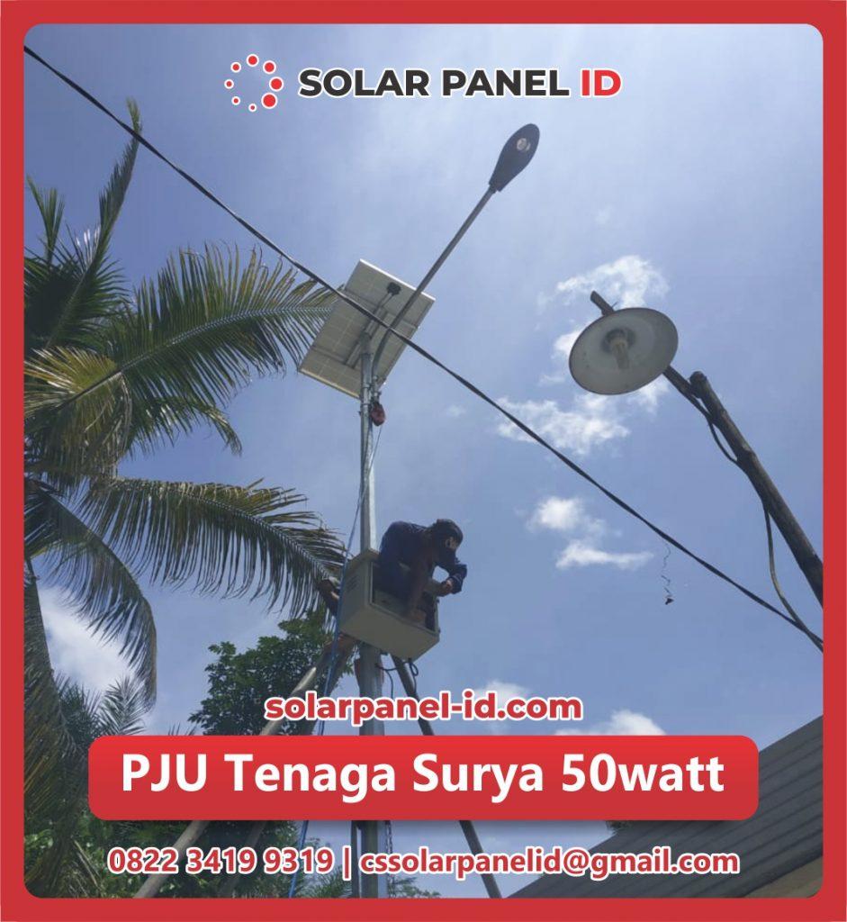 jual pju solar cell 50 watt 50watt