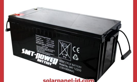 Baterai VRLA SMT Gel 12v 200Ah | Aki Samoto Deep Cycle Gel