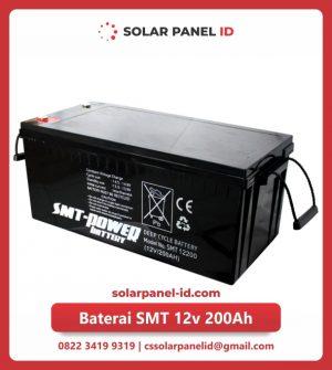 jual baterai vrla gel smt 12v 200ah solar cell tenaga surya murah surabaya