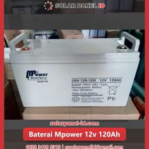 aki vrla gel mpower 12v 120ah