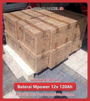 distributor baterai vrla mpower 12v 120Ah solarcell surabaya