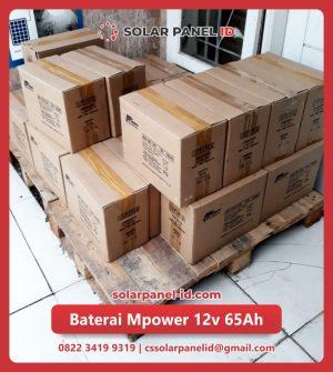 distributor baterai vrla mpower 12v 65Ah solarcell surabaya