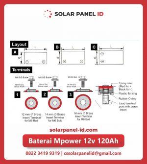 jual baterai mpower 12v 120ah asli