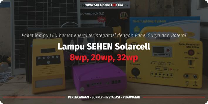 jual lampu sehen 8wp 4 lampu solarcell murah