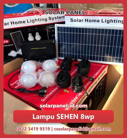 jual lampu sehen 8wp solarcell satu set murah