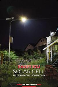 jual paket lampu pju solarcell solar cell tenaga surya satu set lengkap murah bergaransi