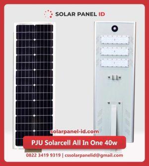 jual lampu pju solarcell all in one 40watt