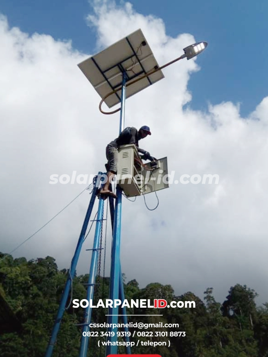 jual paket pju tenaga surya satu set lengkap 2020
