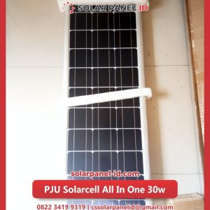 lampu pju solarcell all in one 30watt murah