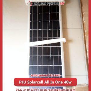 lampu pju solarcell all in one 40watt murah