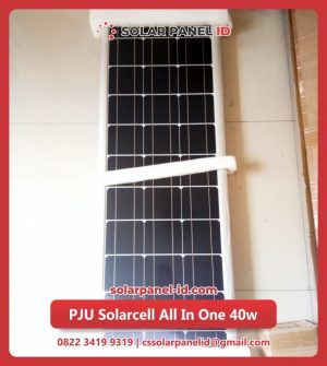 lampu pju solarcell all in one 40watt murah