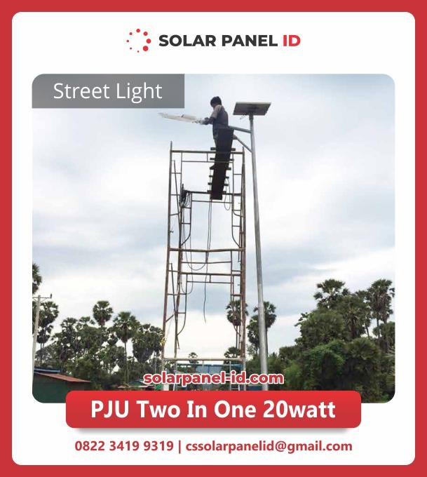 jual lampu pju solarcell 2in1 20watt