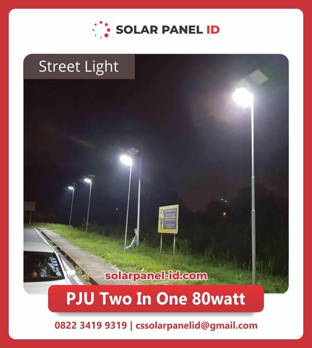 jual lampu pju solarcell 2in1 80watt
